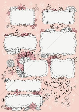 Copy spaces : Floral vintage frame