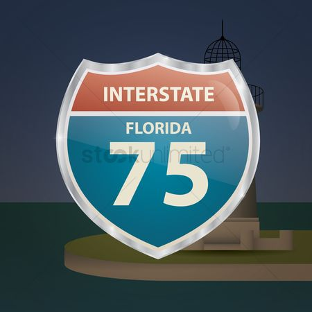 Interstates : Florida 75 route sign