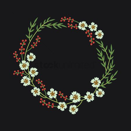 Red : Flower wreath