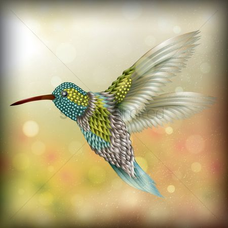 Feather : Flying kingfisher bird