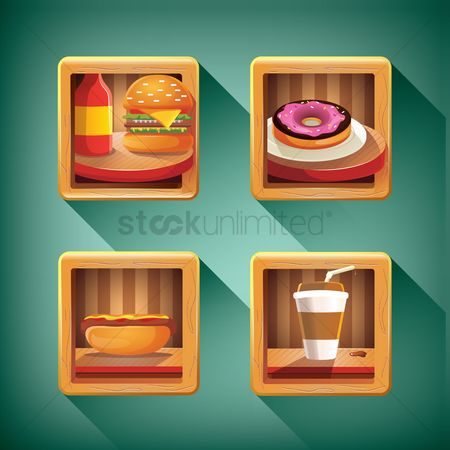 Doughnut : Food and beverage icon set
