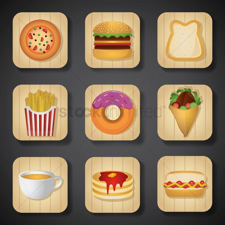 Beverage : Food and beverage icon set