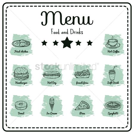 French : Food and drinks menu