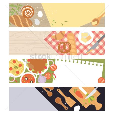 Croissants : Food and kitchen theme banners