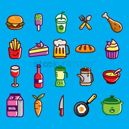 Junk food : Food and kitchenware