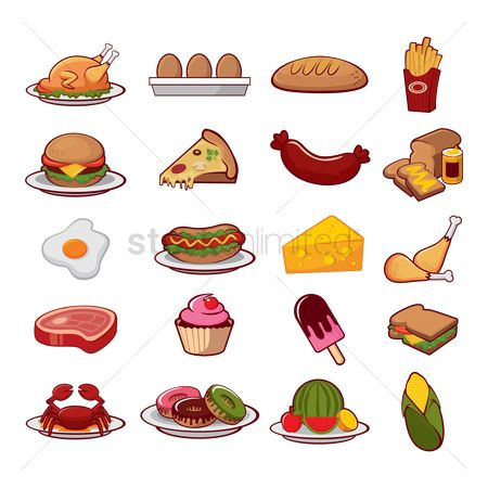 Slice : Food icon collection