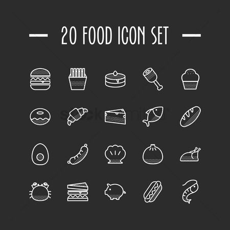 Confections : Food icons