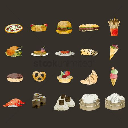 French fries : Food items icons