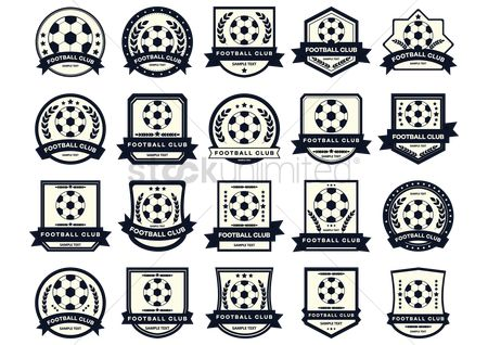 Footballs : Football club logo set