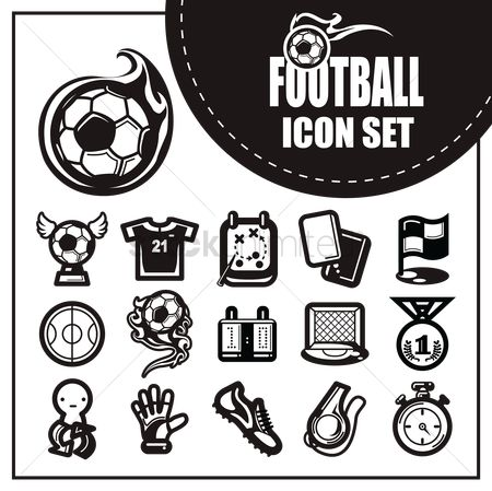 Footwear : Football icon set