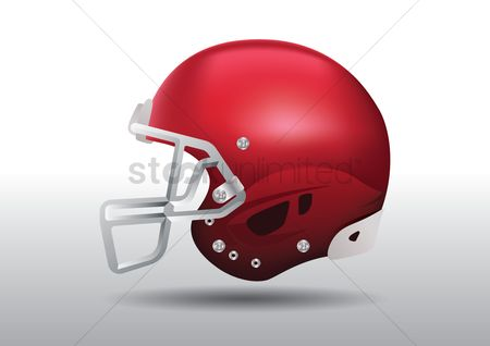 Sports : Football player helmet