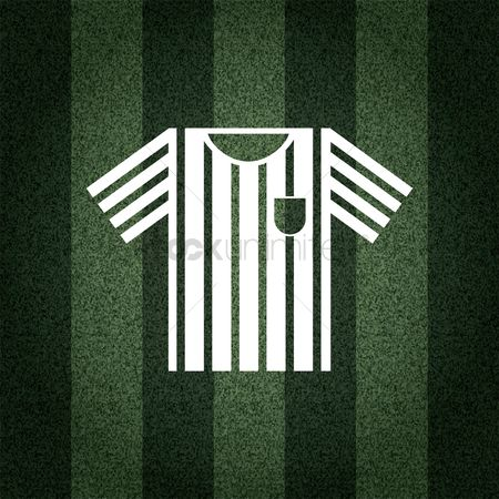 Striped t shirt : Football referee t-shirt on striped background