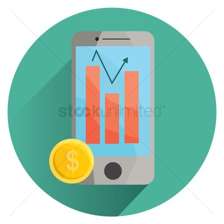 Profits : Foreign exchange app on smartphone