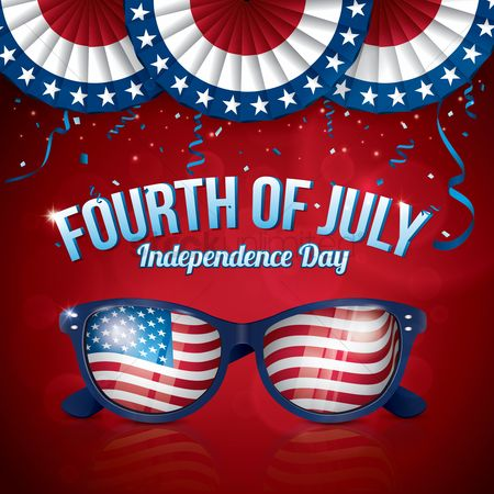 America : Fourth of july independence day poster