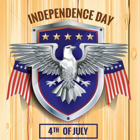 Shield : Fourth of july independence day poster