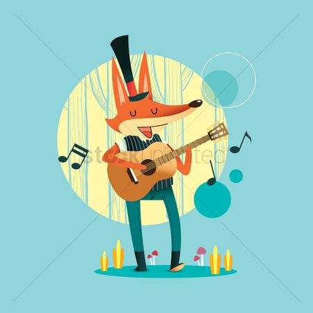 Dancing : Fox with guitar