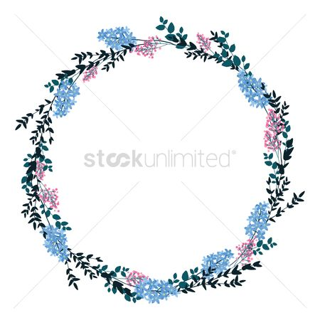 Borders : Frame with floral design