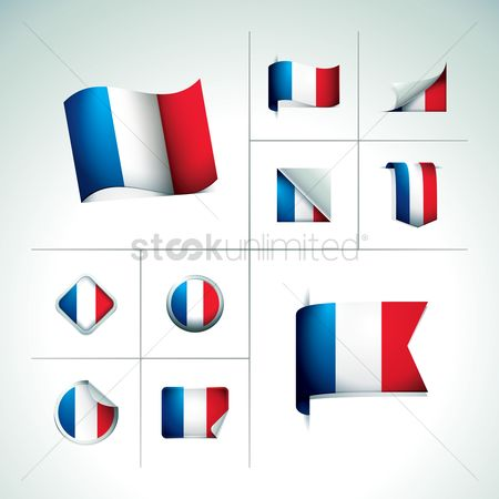 French : France flag labels
