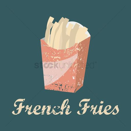 Crisp : French fries menu title