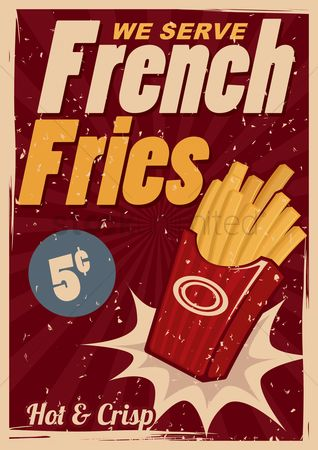 Store : French fries poster