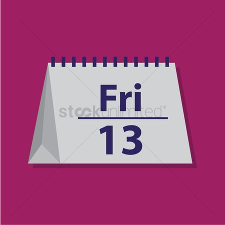 Planner : Friday 13 on table calender