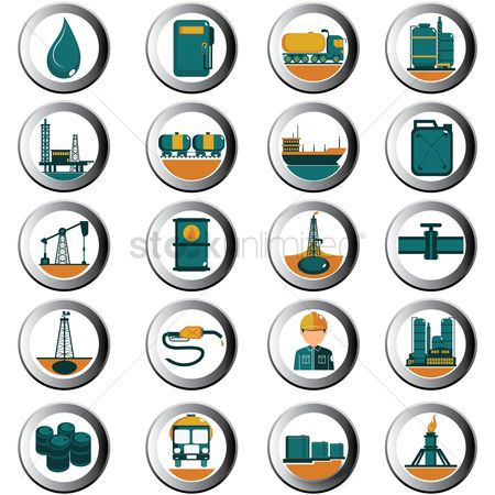 Petroleum : Fuel icons