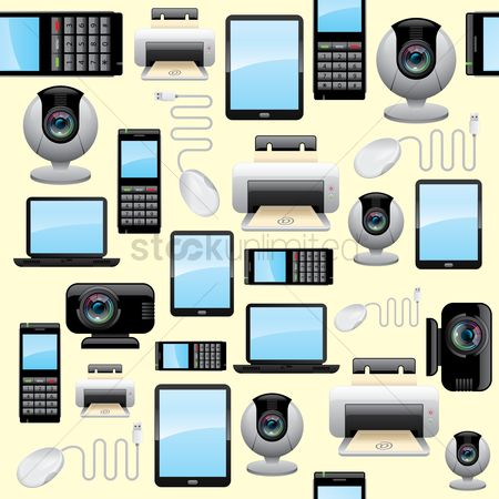 Devices : Gadget and technology background