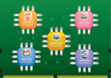 Circuitboard : Gadget info graphic