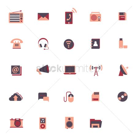 Photography : Gadgets and technology icons
