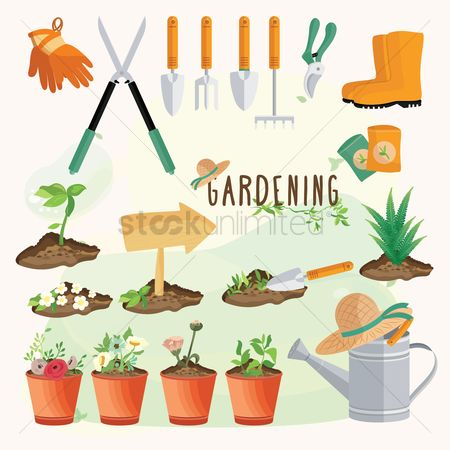 Flower pot : Gardening tools