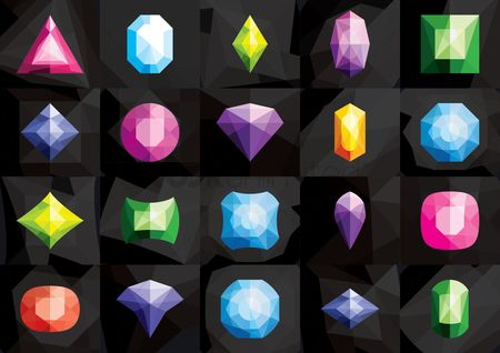 Faceted : Gemstone icons