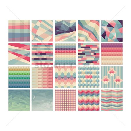 Styles : Geometric background design