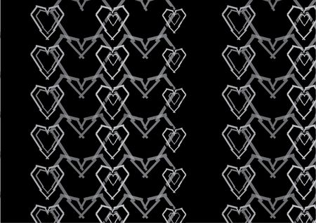 Background : Geometric heart background