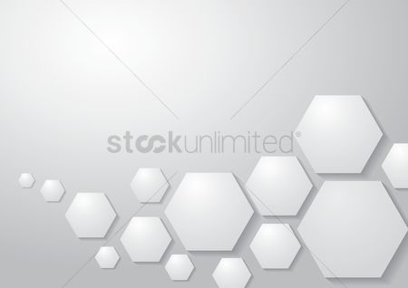 Clean : Geometric white background