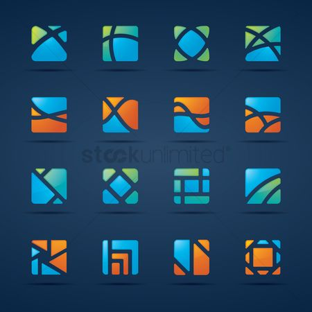 Logo : Geometrical design collection
