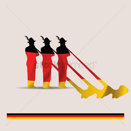 Brass : German alphorn players