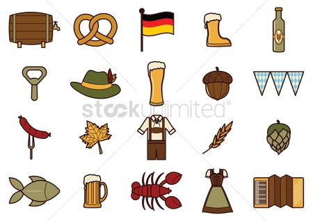 Beer mug : German icon set