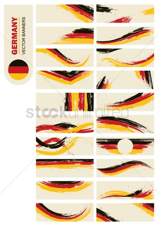 Brushes : Germany banners collection