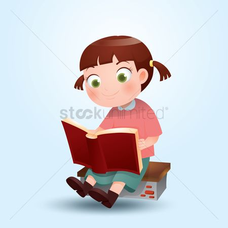 Read : Girl reading book