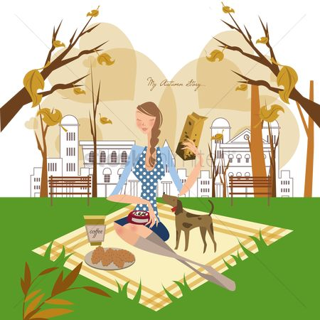 Biscuit : Girl sitting in a garden