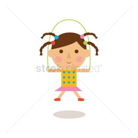 Dolls : Girl skipping rope