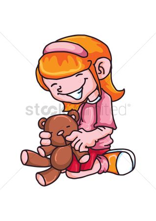 Teddybears : Girl with toy