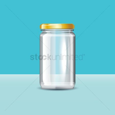 Jar : Glass jar