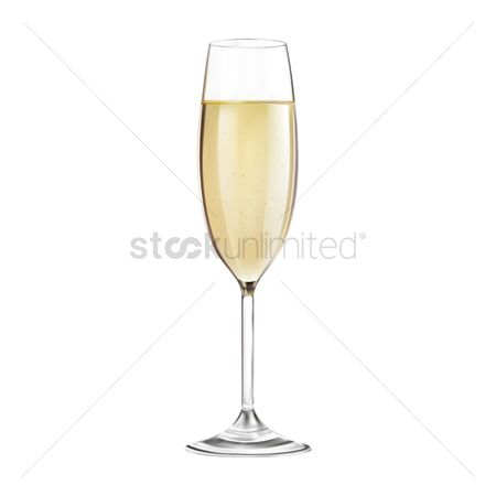 Champagnes : Glass of champagne