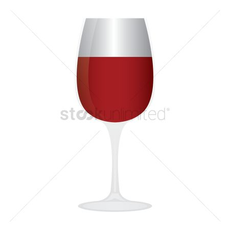 Red wine : Glass of red wine