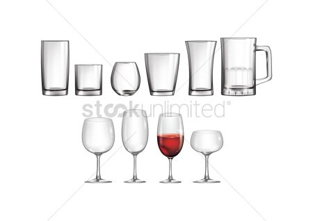Red : Glassware set