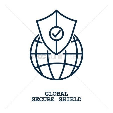 Insignias : Global secure shield concept