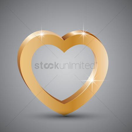 Shine : Gold heart frame