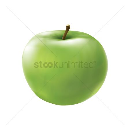 Healthy eating : Green apple