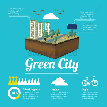Bicycles : Green city infographic